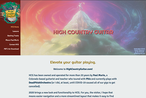 High Country Guitar Web Design