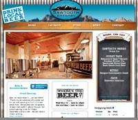 Sawtooth Brewery Web Design