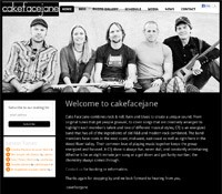 web design band artist