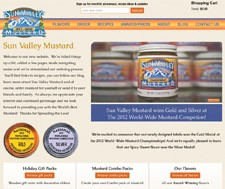 Sun Valley Mustard Web Design