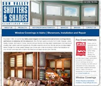 Sun Valley Shutters and Shades Web Design