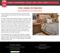 Fox Creek Interiors Web Design