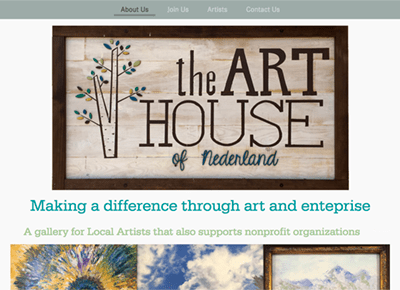 The Art House of Nederland Web Design