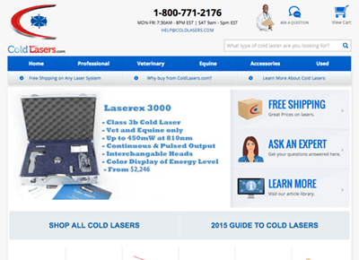 Cold Lasers Web Design