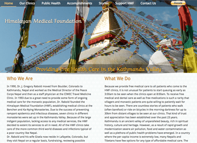 Himalayan Medical Foundation Web Design